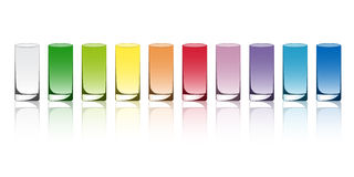 Colored glasses Royalty Free Stock Photos