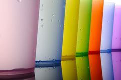 Colored Glasses Of Frosted Plastic Stock Image