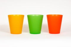 Colored glasses. Plastic colored glasses, bright colors Royalty Free Stock Image