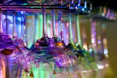 Colored Glassware royalty free stock photo