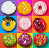 Colored glazed donuts Royalty Free Stock Image