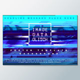 Colored glitch design background poster template Royalty Free Stock Images