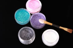 Colored glitter for makeup Royalty Free Stock Photography