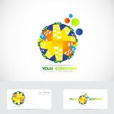 Colored globe logo abstract Stock Image