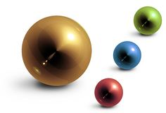 Colored glossiness balls Royalty Free Stock Image