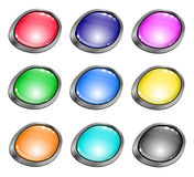 Colored glossy buttons for website Stock Photos