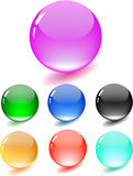 Colored glossy sphere. Icon Nice Colored glossy sphere stock illustration