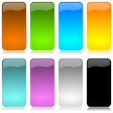 Colored and glossy vertical bar set Stock Photography