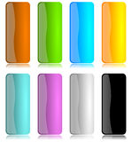 Colored and glossy vertical bar set Royalty Free Stock Photos