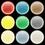 Colored glossy web buttons against black Royalty Free Stock Photography