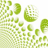 Colored golf balls Stock Photo