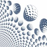 Colored golf balls Stock Images