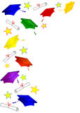 Colored Graduation Caps Frame Stock Images