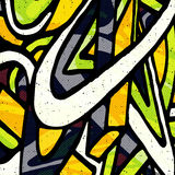 Colored graffiti abstract pattern on a black background Stock Photography