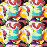 Colored graffiti abstract pattern on a black background. (vector eps 10 Stock Photos