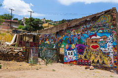 Colored graffiti in Bisbee Royalty Free Stock Image