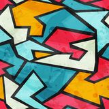 Colored graffiti grunge seamless pattern Royalty Free Stock Image