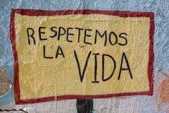 Colored Graffiti On A Wall Stock Image