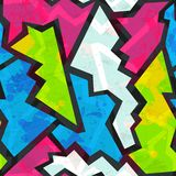Colored graffiti seamless pattern with grunge effect Royalty Free Stock Photography