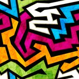 Colored graffiti seamless texture with grunge effect Royalty Free Stock Photography