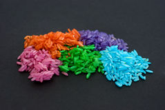 Colored grain rice Royalty Free Stock Image