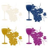 Colored grape template Royalty Free Stock Images