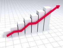Colored graph Stock Photo