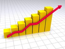 Colored graph Stock Images