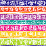 Colored grunge background with ethnic motifs Royalty Free Stock Image