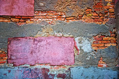 Colored grunge wall background Stock Photos