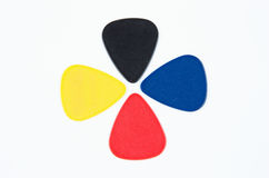Colored Guitar Picks Stock Photography
