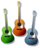 Colored guitars Royalty Free Stock Photo