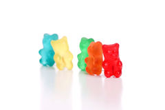 Colored gummy bears Stock Image