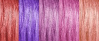 Colored hair background stock photos