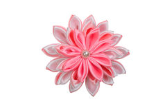 Colored hair clip. On a white background royalty free stock photo