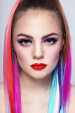 Colored hair Royalty Free Stock Image