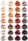 Colored hair samples Royalty Free Stock Photos