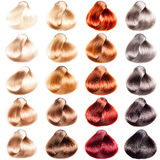 Colored hair samples Royalty Free Stock Image