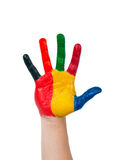 Colored hand Stock Image