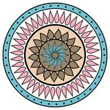 Colored hand drawing zentangle mandala element Royalty Free Stock Photos