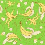 Bananas seamless pattern Stock Image