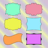Colored  hand drawn  banners, frames for text . Vector Royalty Free Stock Photo