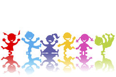 Colored hand drawn children Royalty Free Stock Images