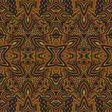Colored hand drawn psychedelic zentangle pattern Royalty Free Stock Photos