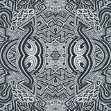 Colored hand drawn psychedelic zentangle pattern Royalty Free Stock Image