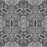 Colored hand drawn psychedelic zentangle pattern Stock Images