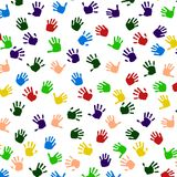 Colored Hand Print icon. Colored Hand Print icon, vector illustration Royalty Free Stock Image