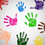 Colored Hand Print icon. Stock Photography