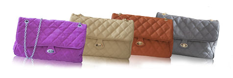 Colored handbags Stock Photography