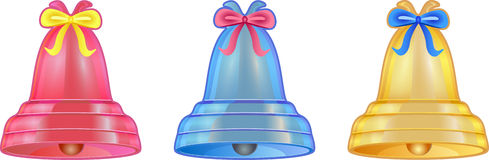 Colored handbell Royalty Free Stock Images